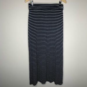J. Crew Navy and Gray Maxi Skirt Size Small